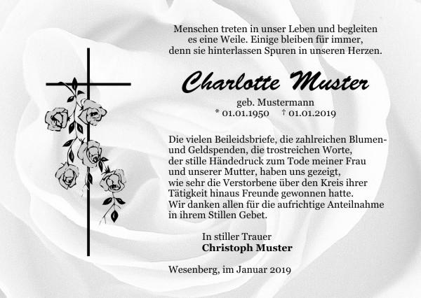 Danksagungen Trauer Und Danksagungskarten, Trauerkarten