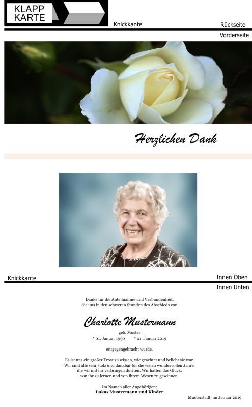 Artikel panorama trauerdanksagung rose 23
