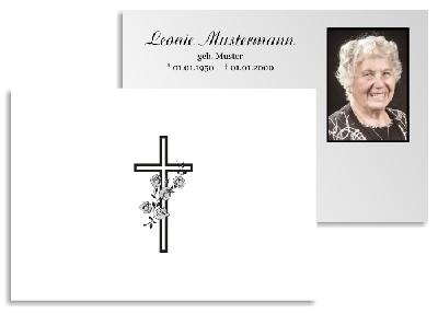 Beerdigung Karte.Danksagung Trauer Karten Kreuz