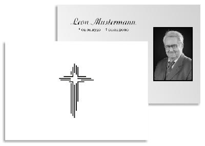 Kreuz Karte.Danksagung Trauer Karten Kreuz